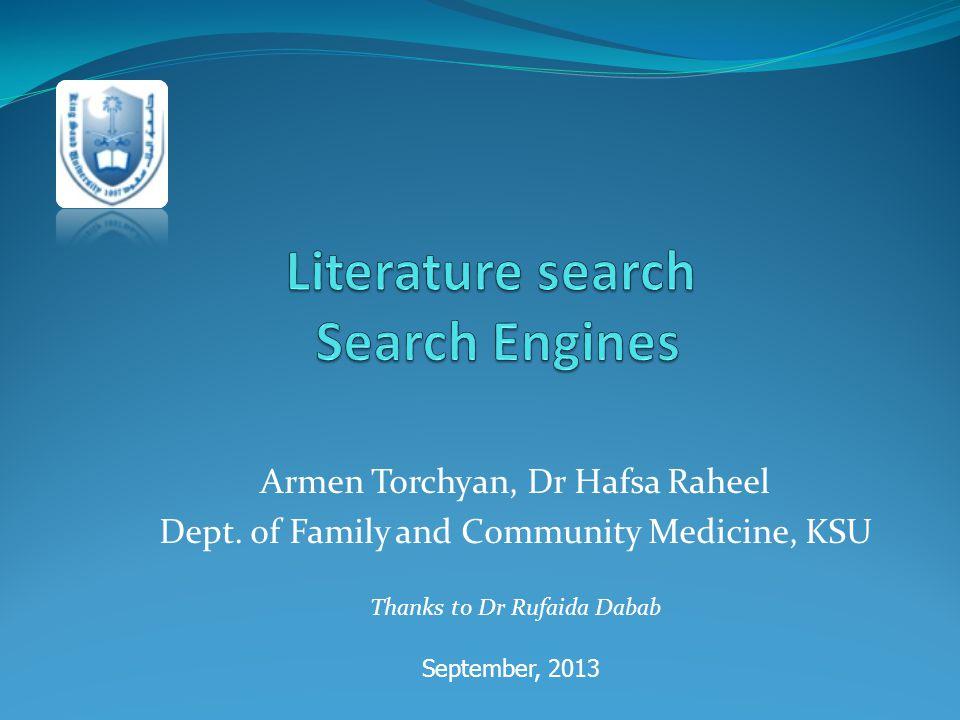 Armen Torchyan, Dr Hafsa Raheel Dept.