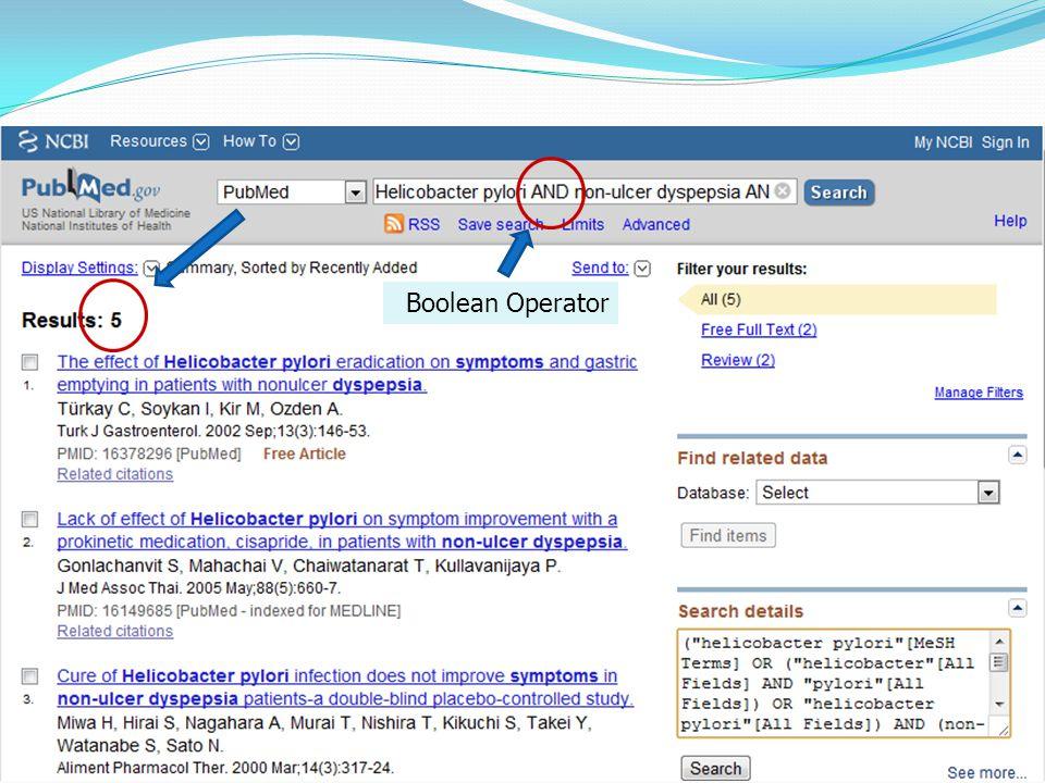 Case example Boolean Operator