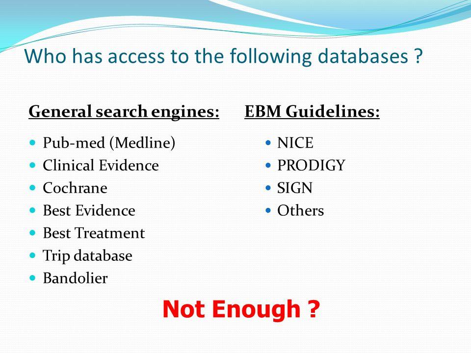 More databases… CINAHL - Cum.