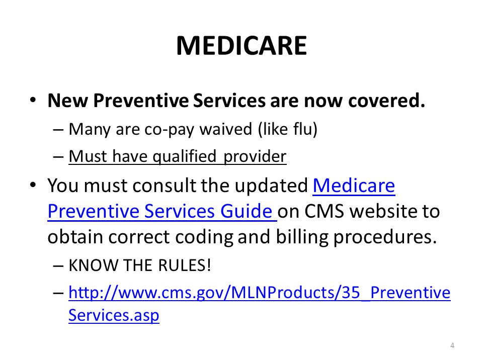 Place of Service 71 For Medicare we have changed the default place of service to 71 Public Health.