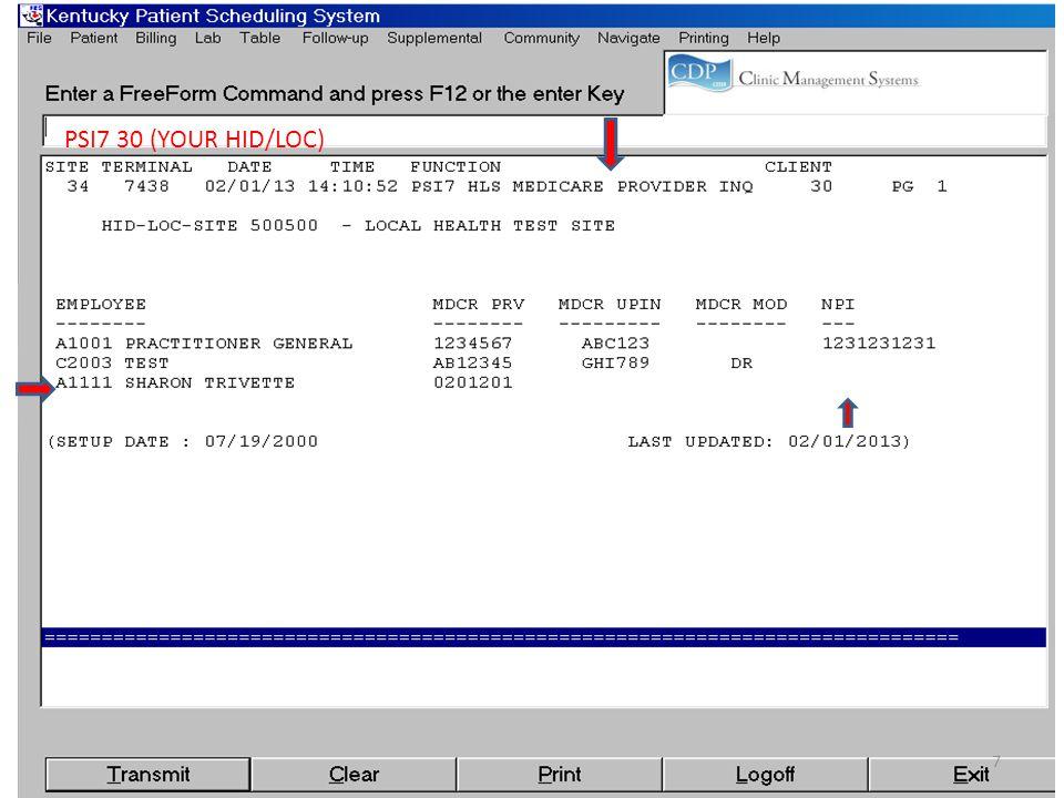 PSI7 30 (YOUR HID/LOC) 7