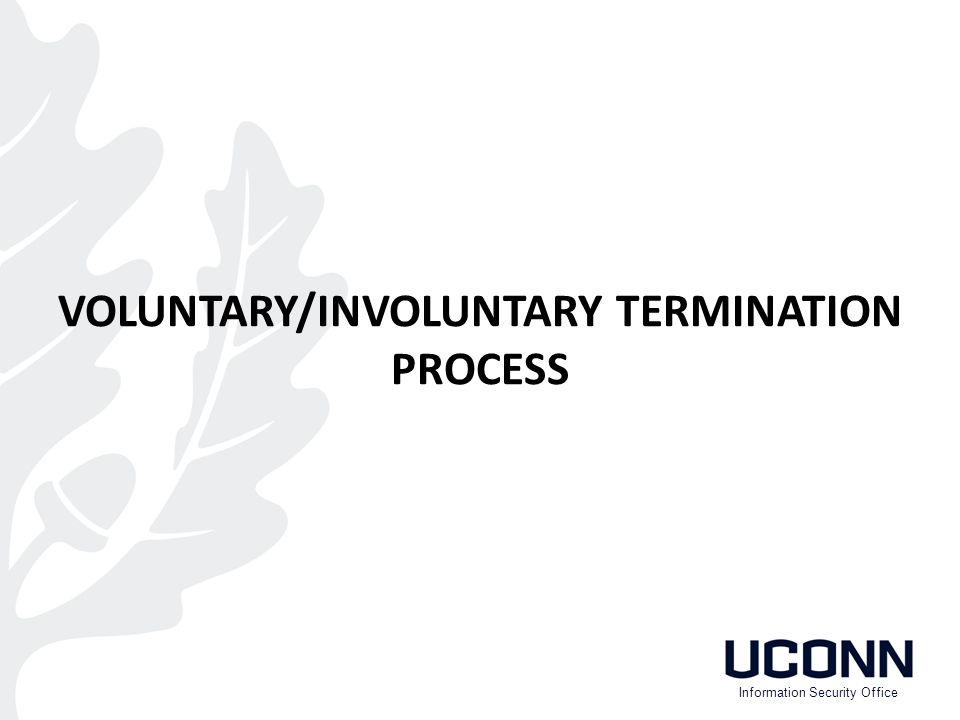 VOLUNTARY/INVOLUNTARY TERMINATION PROCESS Information Security Office