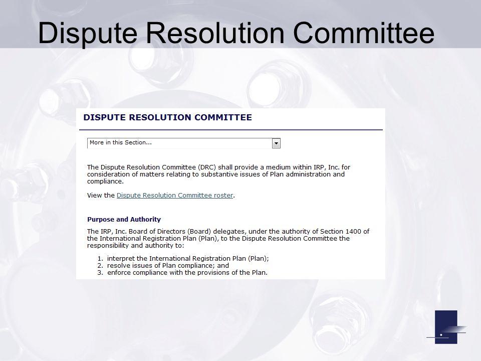 Dispute Resolution Committee