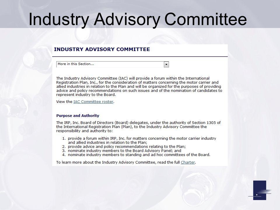 Industry Advisory Committee