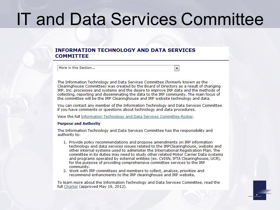 IT and Data Services Committee