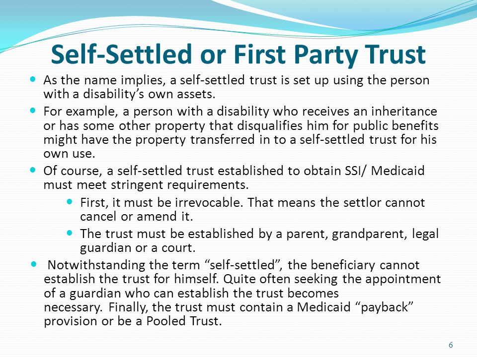 Pooled Trust What is a Pooled Trust.