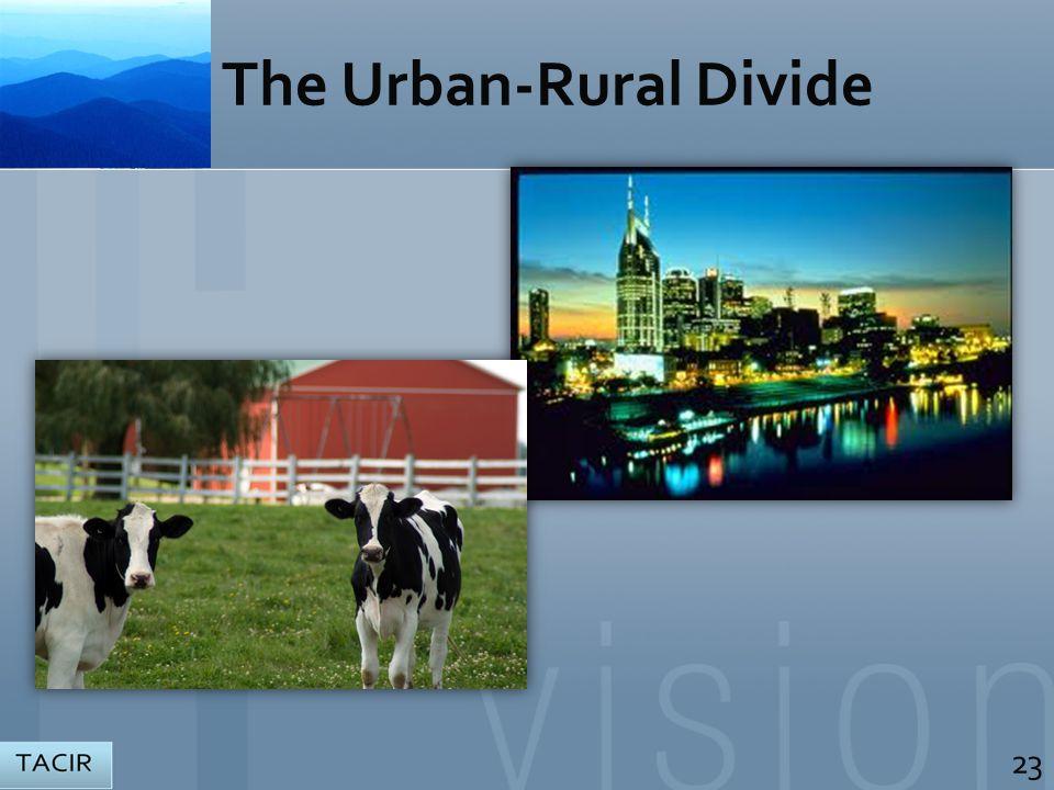 The Urban-Rural Divide 23