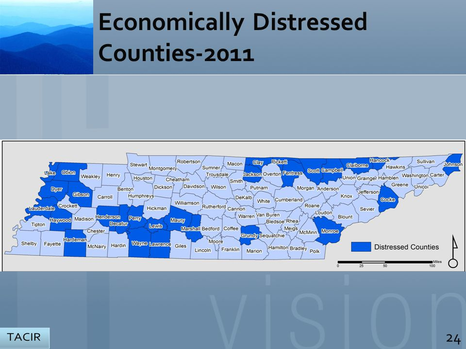 Economically Distressed Counties-2011 24 MAP HERE