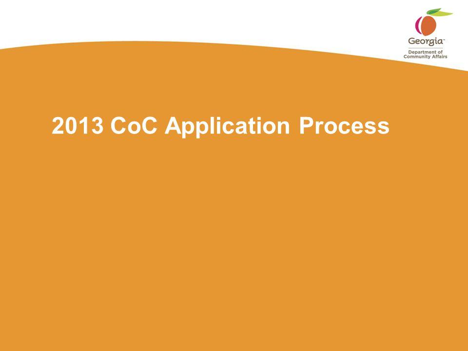 2013 CoC Application Process