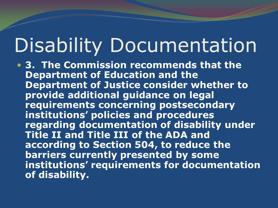 Disability Documentation 3.