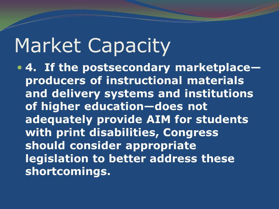 Market Capacity 4.