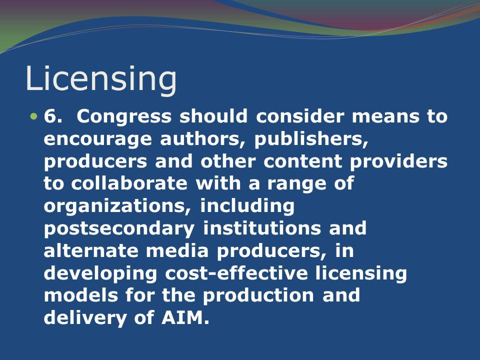 Licensing 6.