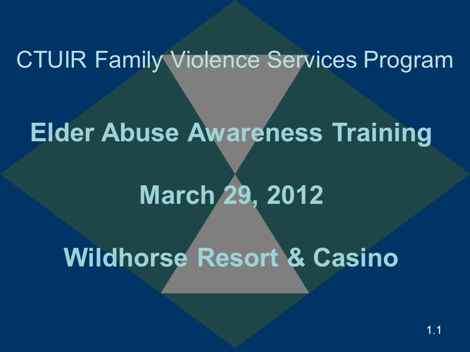 1.12.12 Reframing Abuse and Caregiver Stress Everyone experiences stress – most do not abuse, neglect or exploit a parent or partner The target is the adult – not anyone else Generally pattern – not an isolated incident We would not tolerate similar circumstances with children or pets