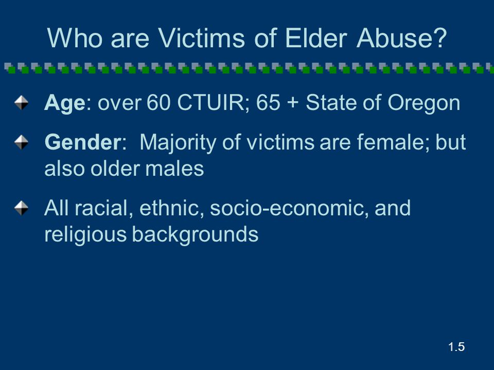 1.6.6 Who Commits Elder Abuse.