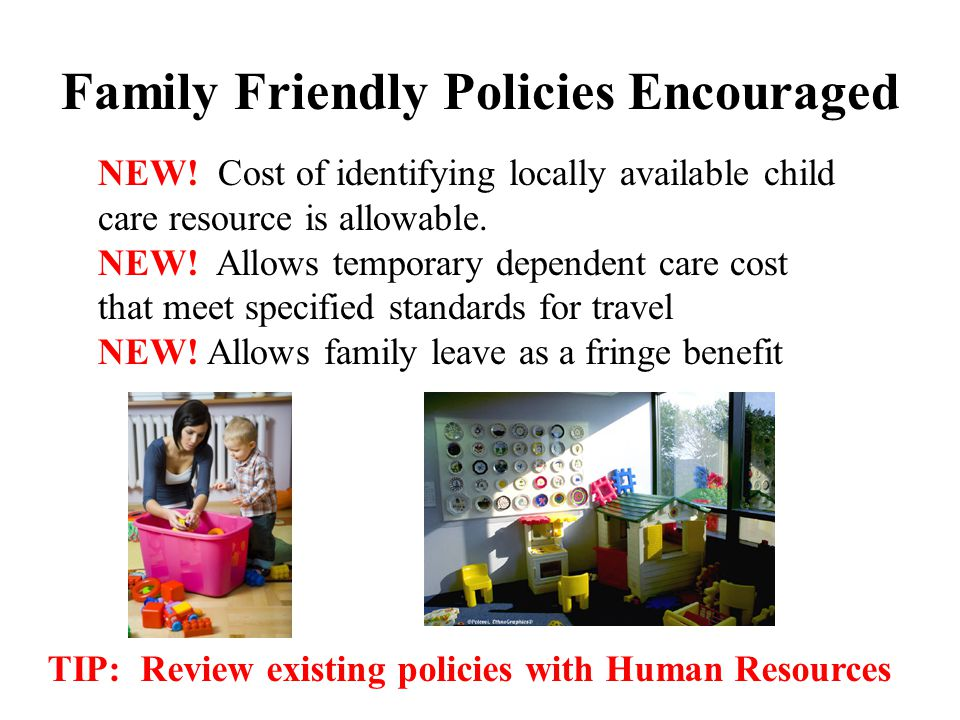 Family Friendly Policies Encouraged NEW.
