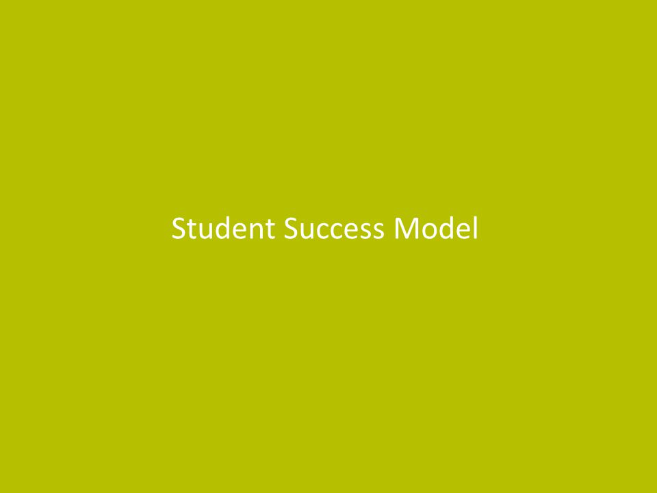 Student Success Model