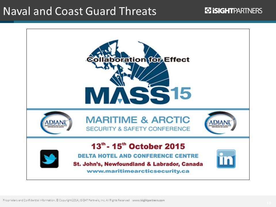 10 Naval and Coast Guard Threats Proprietary and Confidential Information.