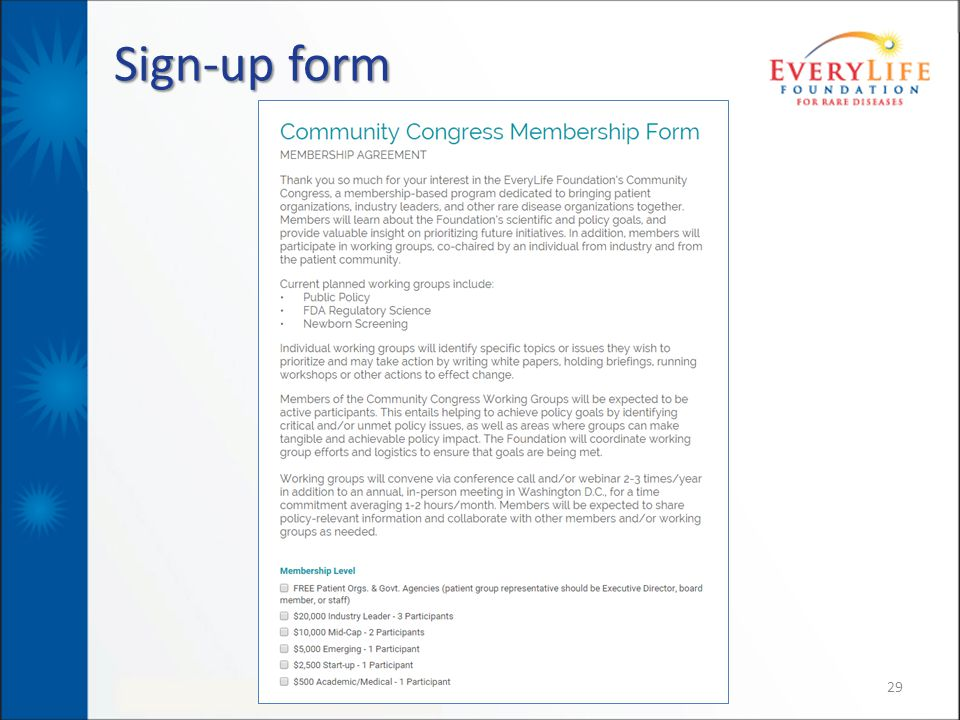 Sign-up form 29