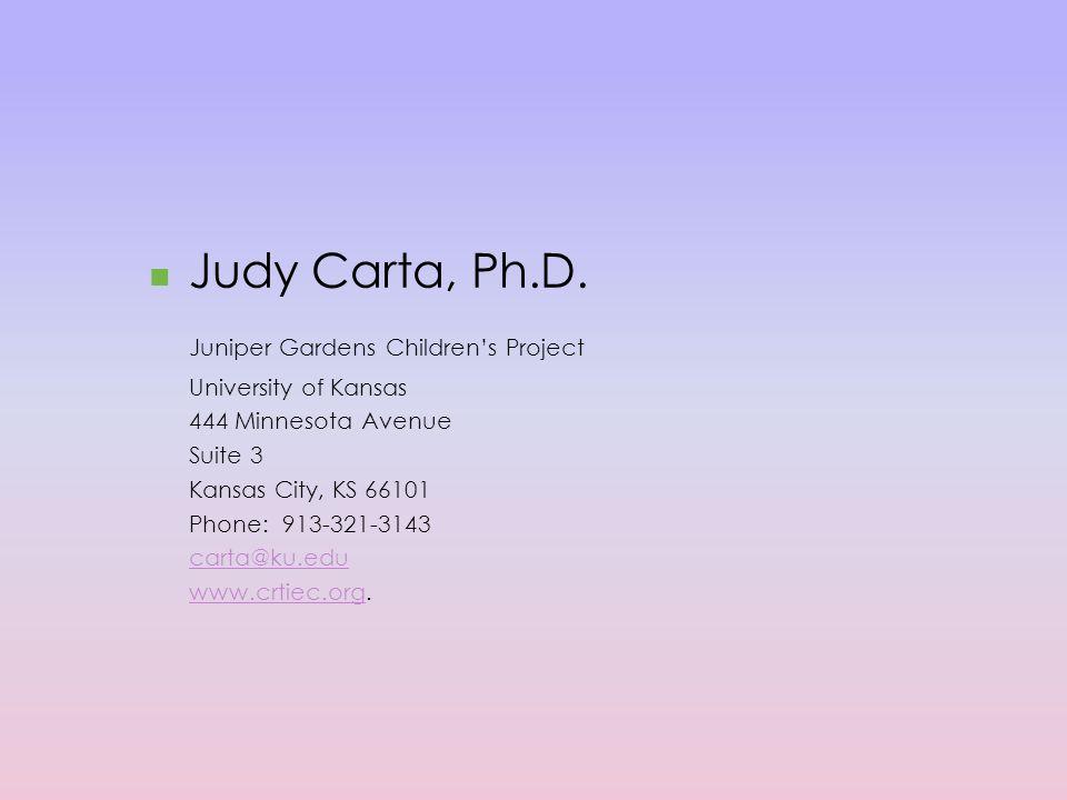 Judy Carta, Ph.D.