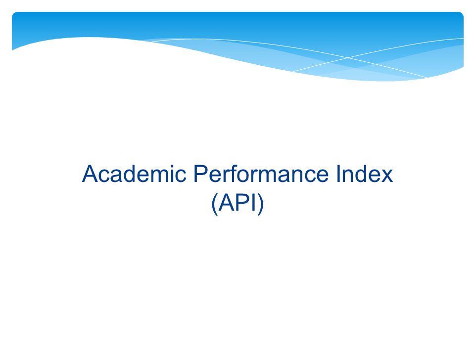 Academic Performance Index (API)