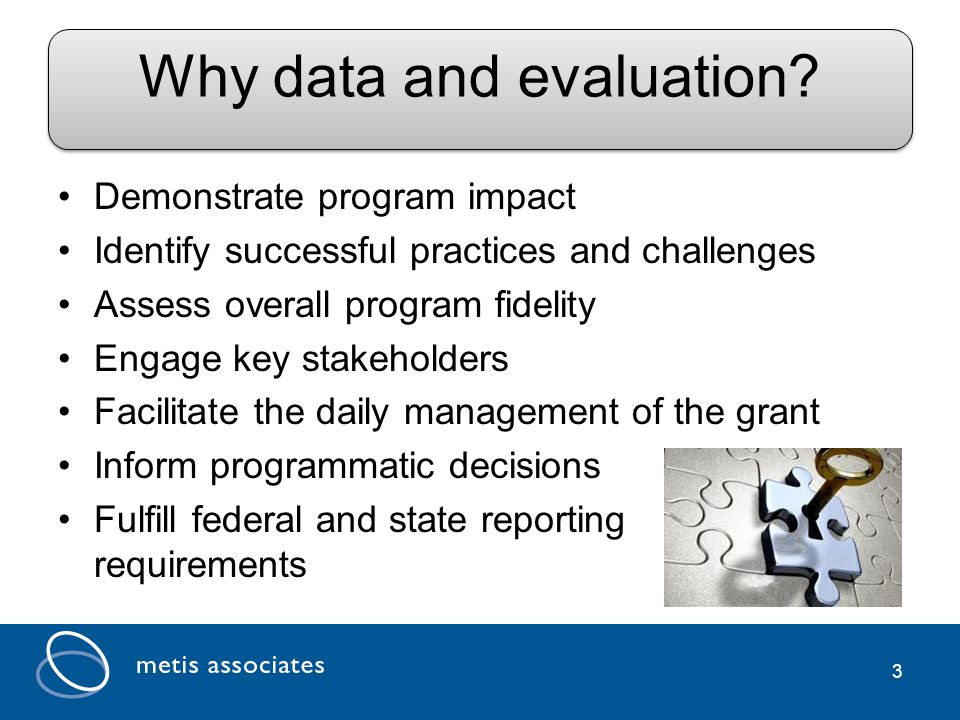 3 Why data and evaluation.