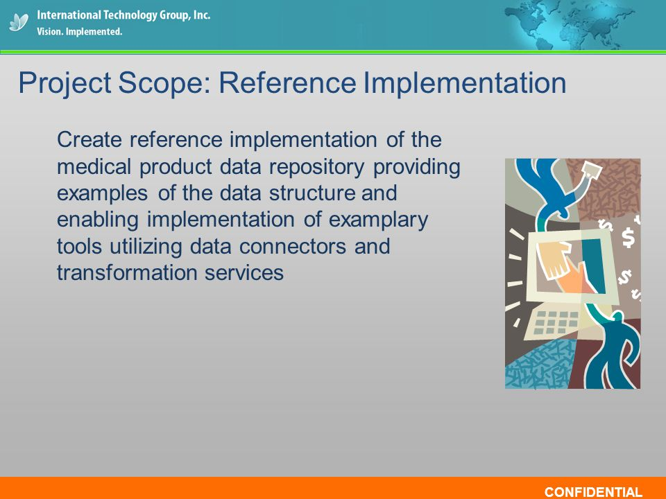 CONFIDENTIAL Create reference implementation of the medical product data repository providing examples of the data structure and enabling implementati
