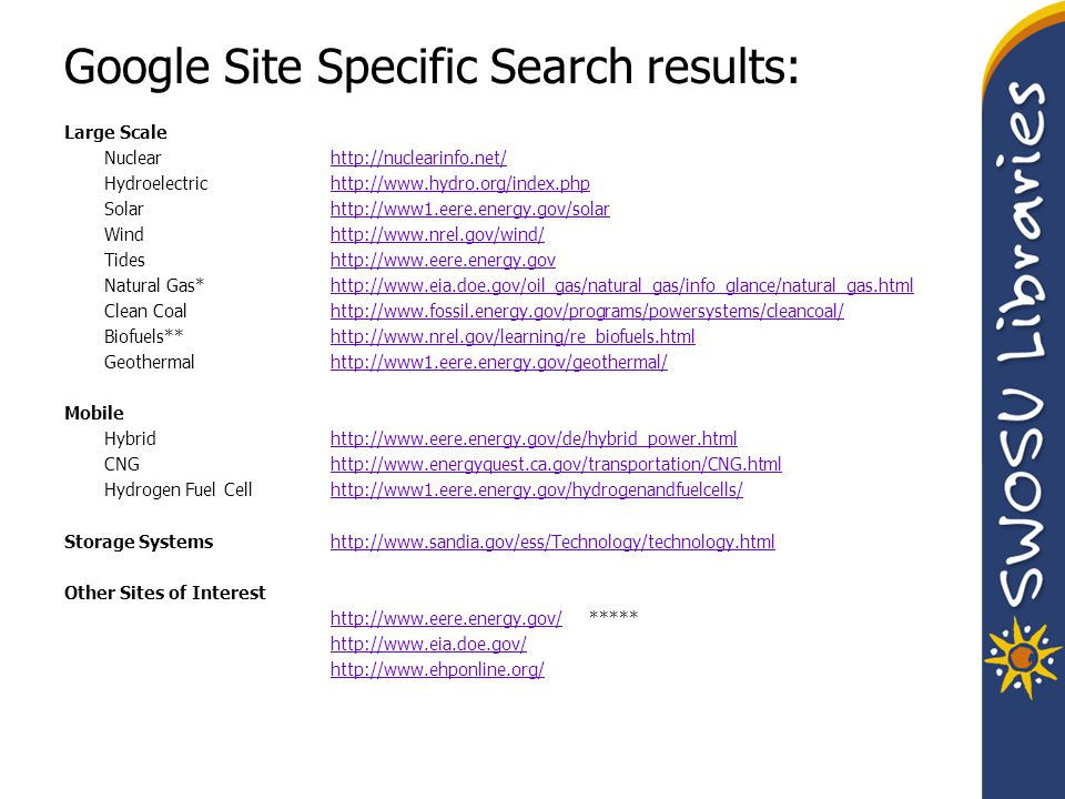 Google Site Specific Search results: Large Scale Nuclearhttp://nuclearinfo.net/http://nuclearinfo.net/ Hydroelectrichttp://www.hydro.org/index.phphttp