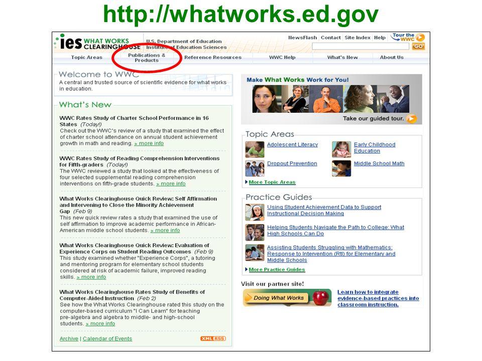 http://whatworks.ed.gov