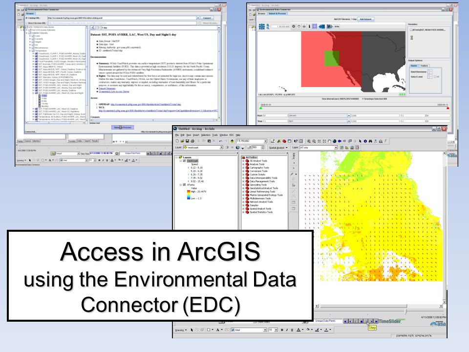 9 Access in ArcGIS using the Environmental Data Connector (EDC)