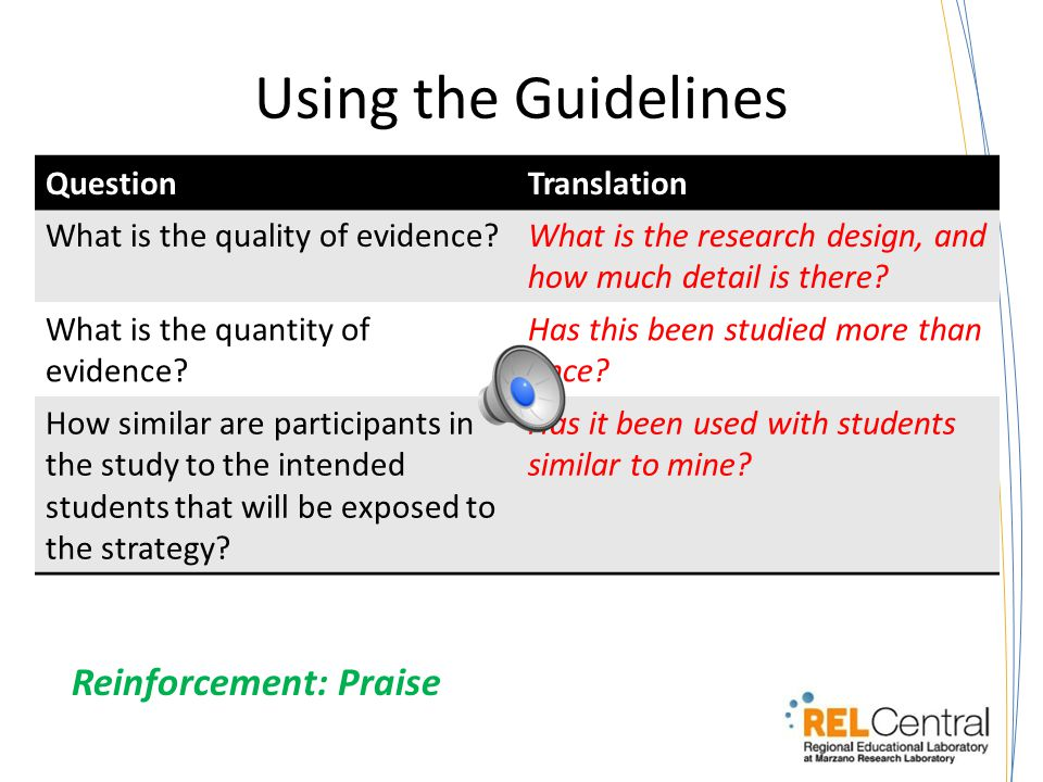 Guidelines 1.What is the quality of evidence.
