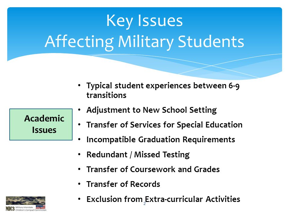 Typical student experiences between 6-9 transitions Adjustment to New School Setting Transfer of Services for Special Education Incompatible Graduatio