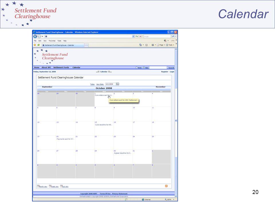 20 Calendar