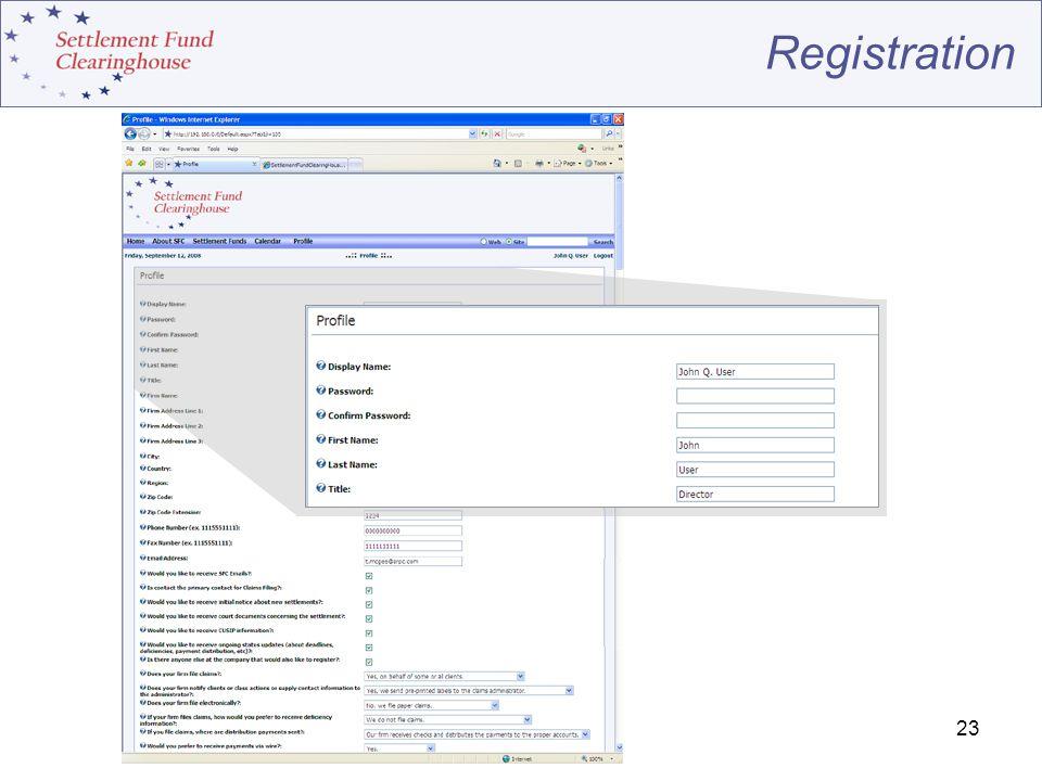 23 Registration