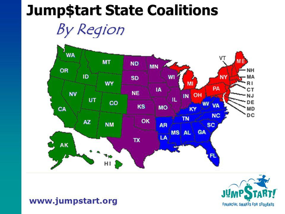 www.jumpstart.org Jump$tart State Coalitions By Region