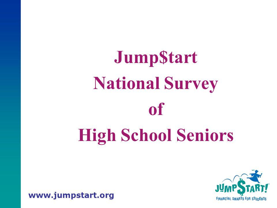 www.jumpstart.org Jump$tart National Survey of High School Seniors