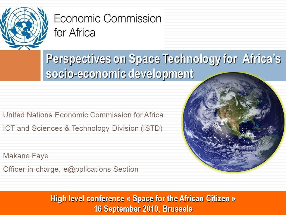 22 www.uneca.org Outline Introduction Space Technology & Applications for socio-economic development UNECA's support to African countries on exploitation of Space technology for socio-economic development The African ICT Ministers Abuja Declaration & Recommendations The Committee on Development Information, Science and Technology (CODIST) Challenges on Space Technology and Applications in Africa The Way Forward