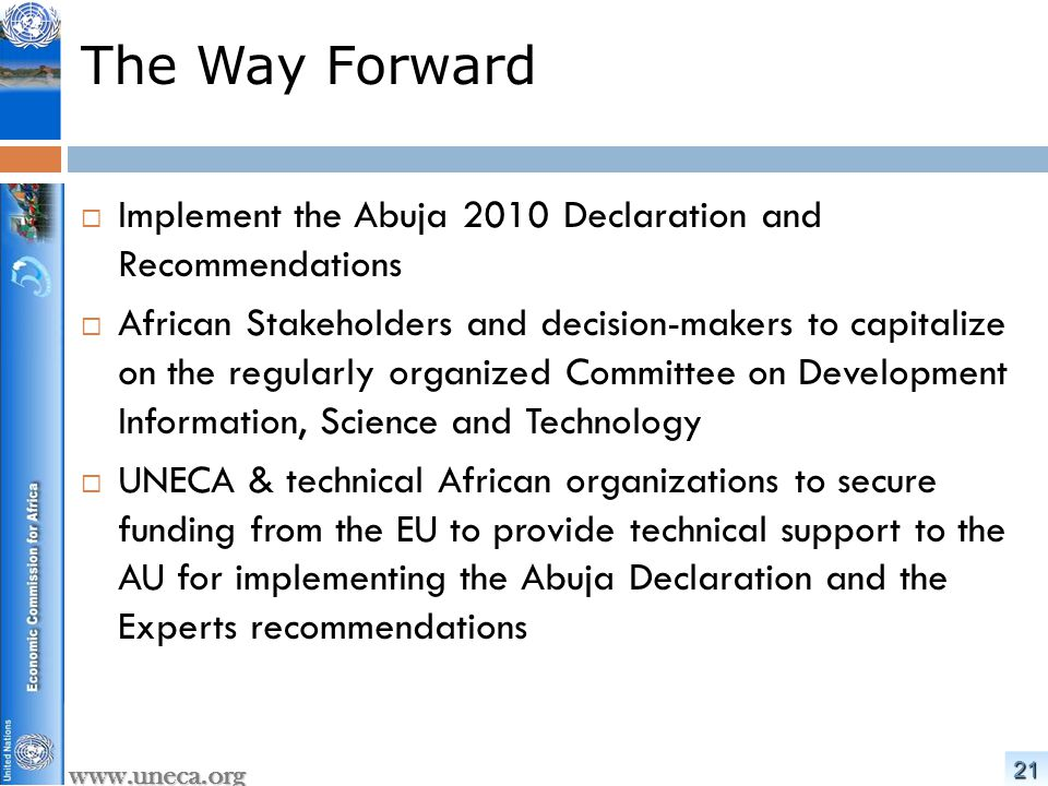 2222 www.uneca.org Thank you eApplicationsSection@uneca.org