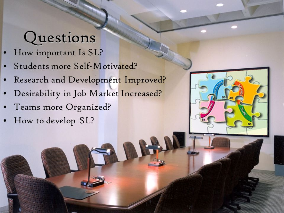 Questions How important Is SL.Students more Self-Motivated.