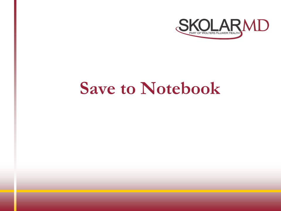 Save to Notebook