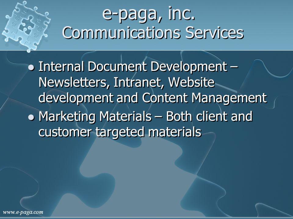 www.e-paga.com e-paga, inc.