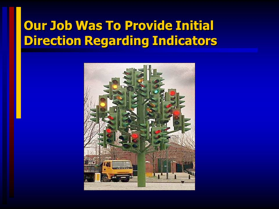 Our Job Was To Provide Initial Direction Regarding Indicators