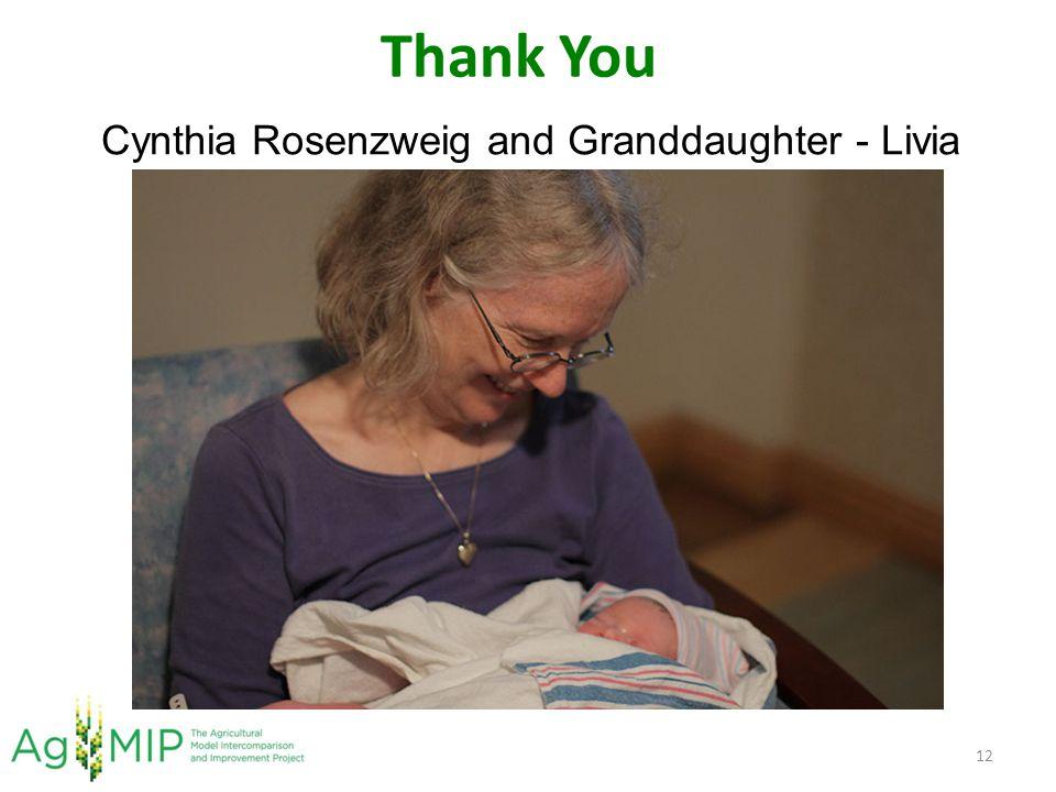 Thank You 12 Cynthia Rosenzweig and Granddaughter - Livia