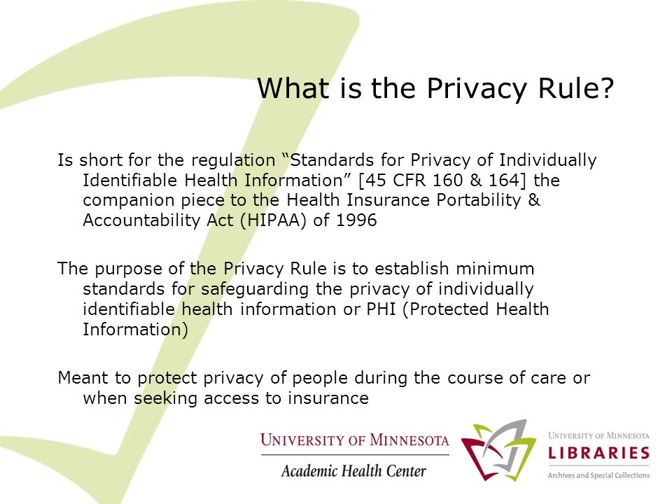 What is the Privacy Rule.