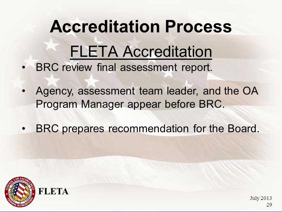 FLETA July 2013 29 Accreditation Process FLETA Accreditation BRC review final assessment report.