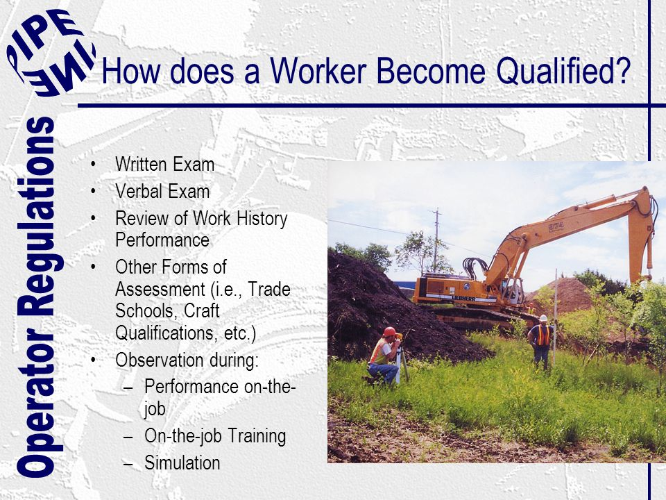 How does a Worker Become Qualified.