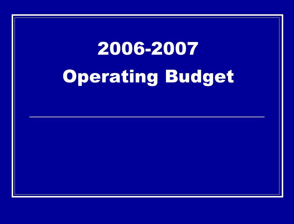 2006-2007 Operating Budget