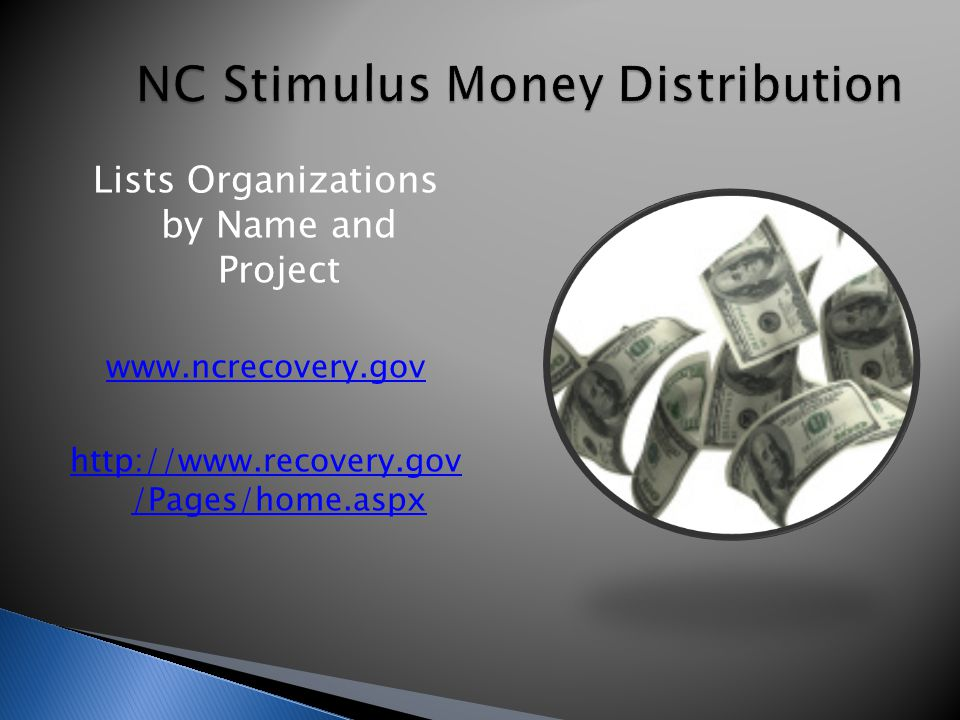 Lists Organizations by Name and Project www.ncrecovery.gov http://www.recovery.gov /Pages/home.aspx