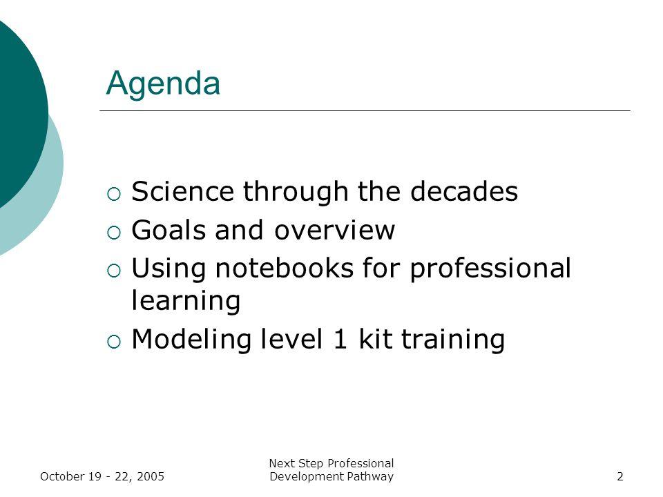 October 19 - 22, 2005 Next Step Professional Development Pathway93 Plus/Delta Participant Feedback PlusDelta Public list of interactive strategiesIntegrate more reflection time.