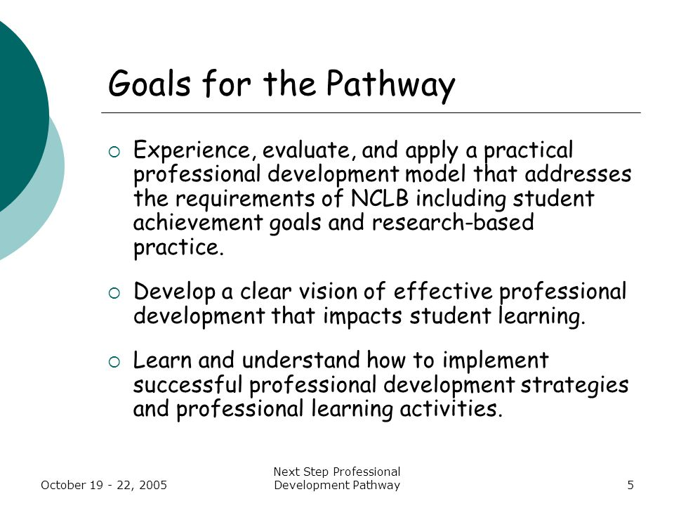 Session #6 Next Steps Institute October 19-22, 2005