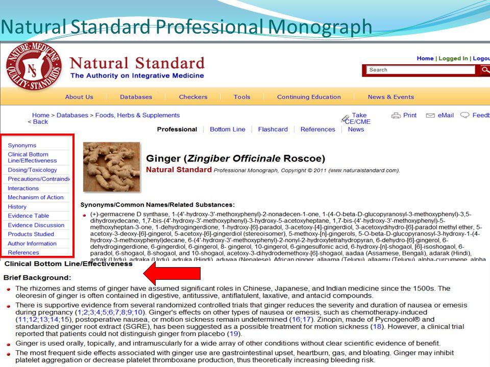 Natural Standard Professional Monograph